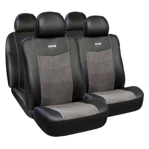 Huse Scaune Auto Opel Astra H Premium Momo Piele Ecologica si Alcantara 11 Bucati
