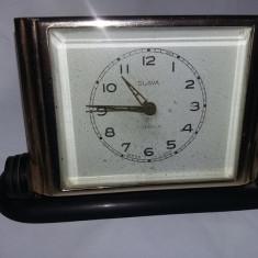Ceas vechi de masa Slava,ceas de colectie,FUNCTIONAL,starea care se vede,T.GRAT