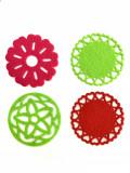 Cumpara ieftin Set 4 suporturi pentru pahare din material textil, 10 cm