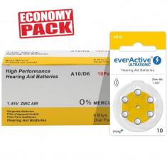 Baterii EverActive 10 pentru aparate auditive Economy Pack 60 baterii