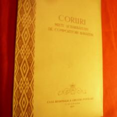 Coruri Mixte si Barbatesti - de Compozitori Banateni 1957 - Partituri , 50 pag