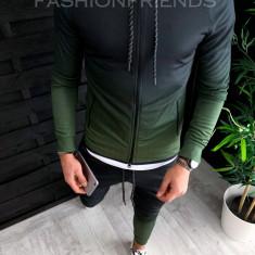 Trening barbati KAKI in DEGRADE PREMIUM - Bluza + Pantaloni - A2632, L, M, XL, Din imagine, Nocciola
