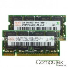 Memorie laptop-RAM 4gb DDR2(kit 2*2gb) Hynix PC2-6400 sh