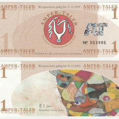 !!! GERMANIA , REGIUNEA DACHAU = LOCAL MONEY = 1 AMPER - TALER 2009 - UNC
