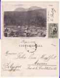 Azuga -Vedere generala-clasica,TCV, rara, Circulata, Printata