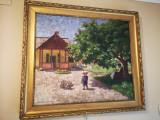 Tablou autentic Bortsok Samu, Peisaje, Ulei, Impresionism