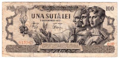Bancnota 100 lei 5 decembrie 1947 (1) foto