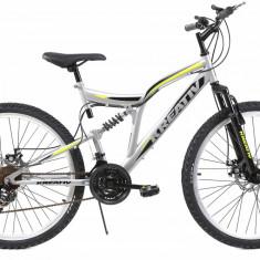 Bicicleta Mtb Kreativ 2643 Gri M 26 inch, Discuri