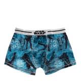 Boxeri barbati Star Wars bleu cu bata alba