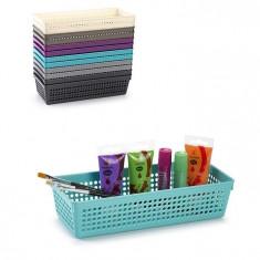 Cutie dreptunghiulara din plastic diverse intrebuintari-turcoaz