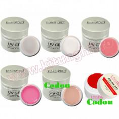 Set 4 x Gel UV ENS PRO Deluxe 20 gr + CADOU Gel UV Camuflaj + Gel UV Color ENS PRO