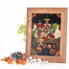 Iisus Hristos – Vita de vie -Icoană pictată pe sticlă