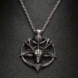 Pandantiv   Colier Lantisor pentagrama intoarsa