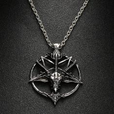 Pandantiv | Colier Lantisor pentagrama intoarsa