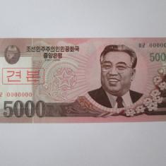 Cumpara ieftin Coreea de Nord 5000 Won 2008 Specimen UNC