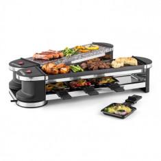 Klarstein Klarstein Tenderloin 50/50 raclette grill 1200W 8 persoane Piatra naturala