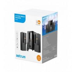 Boxe Audio 2.1 Astrum MS400 80W, Bluetooth, FM, USB, cu Telecomanda
