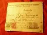 Plic 1915 francat 10 bani Carol I tipografiate ,antet Soc.Creditului Funciar Urb