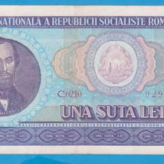 (18) BANCNOTA ROMANIA - 100 LEI 1966, PORTRET NICOLAE BALCESCU. STARE BUNA
