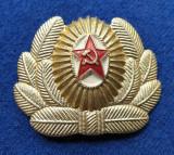 Insigna Militara insemn ofiter  steaua rosie - Coifura insemn cascheta