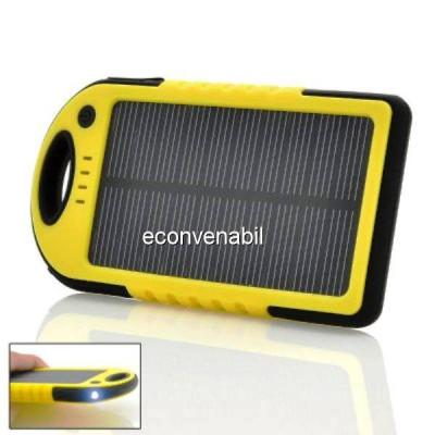 Incarcator Solar Telefoane Power Bank 5000mAh foto