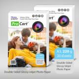 Hartie FOTO High Glossy printabila fata-verso 220g A3