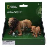 Set 2 figurine Leul si puiul National Geographic, 3 ani+