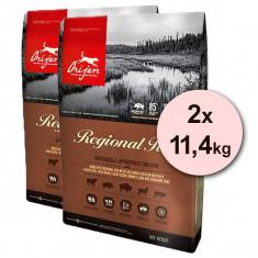 Cumpara ieftin Orijen Regional Red Dog 2 x 11,4 kg