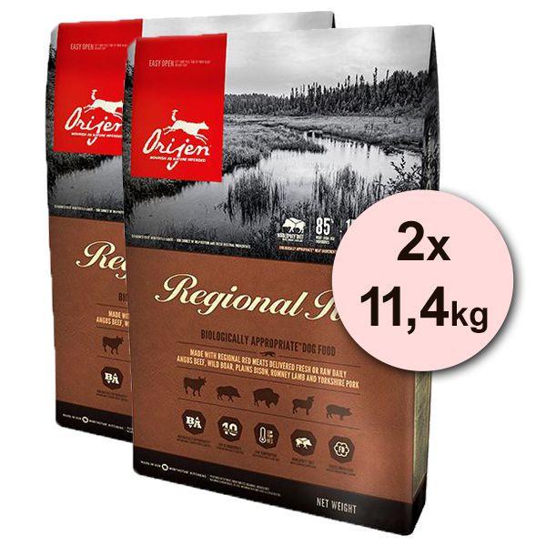 Orijen Regional Red Dog 2 x 11,4 kg