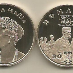 ROMANIA  50  BANI  2019 - PROOF  - REGINA MARIA