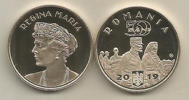 ROMANIA  50  BANI  2019 - PROOF  - REGINA MARIA