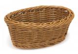 Cos servire paine, fructe oval rezistent la apa, 20 x 13 x 8 cm culoare cafea, 0140135