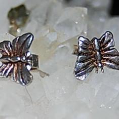 cercei argint antici model fluture!
