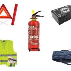 Kit Siguranta Auto - trusa medicala triunghi stingator cu manometru vesta geanta