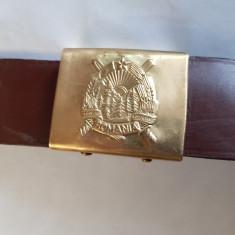 CUREA ,PAFTA ,CENTURA MILITARA ROMANEASCA -PIELE -anii '70
