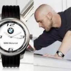 BMW Ceas Model BMW curea silicon cadran alb curea neagra MOTORRAD