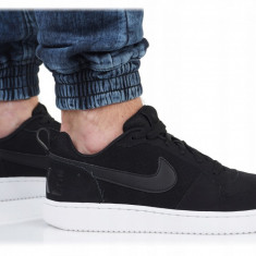 ADIDASI ORIGINALI 100% Nike Court BOROUGH LOW Leather Black UNISEX nr 41