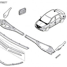Ornament Superior Grila Calandru Crom Logan Facelift Renault 8200785077