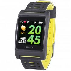 Bratara fitness T-FIT 280 GPS, negru galben, puls, Trevi