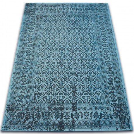 Covor Vintage Flori 22209/474 turcoaz, 200x290 cm