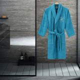 Cumpara ieftin Halat baie Beverly Hills Polo Club, 100% bumbac, marime L XL, turcoaz