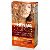 Vopsea de par permanenta fara amoniac FITO Henna Color 7.0 BLOND DESCHIS