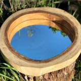 Oglindă în felie de arbore tropical, M