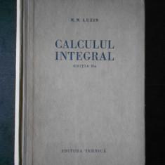 N. N. LUZIN - CALCULUL INTEGRAL