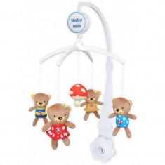 Carusel muzical Baby Mix Ursuleti cu Ciupercute
