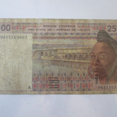 Rara! Coasta de Fildes 2500 Francs/Franci 1994
