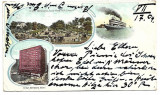 Carte postala circulata SUA 26 Iulie 1904 Chicago