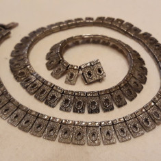 COLIER argint EXCEPTIONAL de efect VECHI patina MINUNATA vintage SPLENDID rar