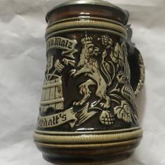 Halba bere din ceramica