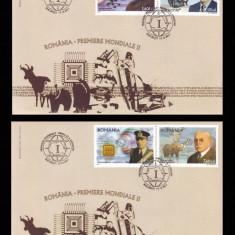 2011 Romania, 2 FDC Premiere mondiale (II) LP 1923, plicuri prima zi